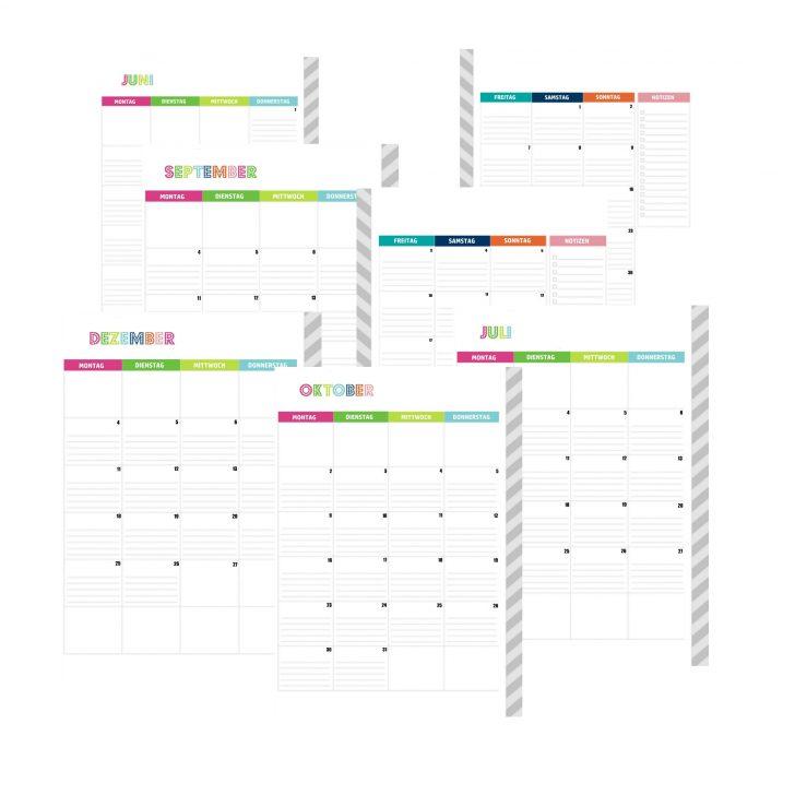 Der Mama Planer 2017 alle Kalendereinlagen